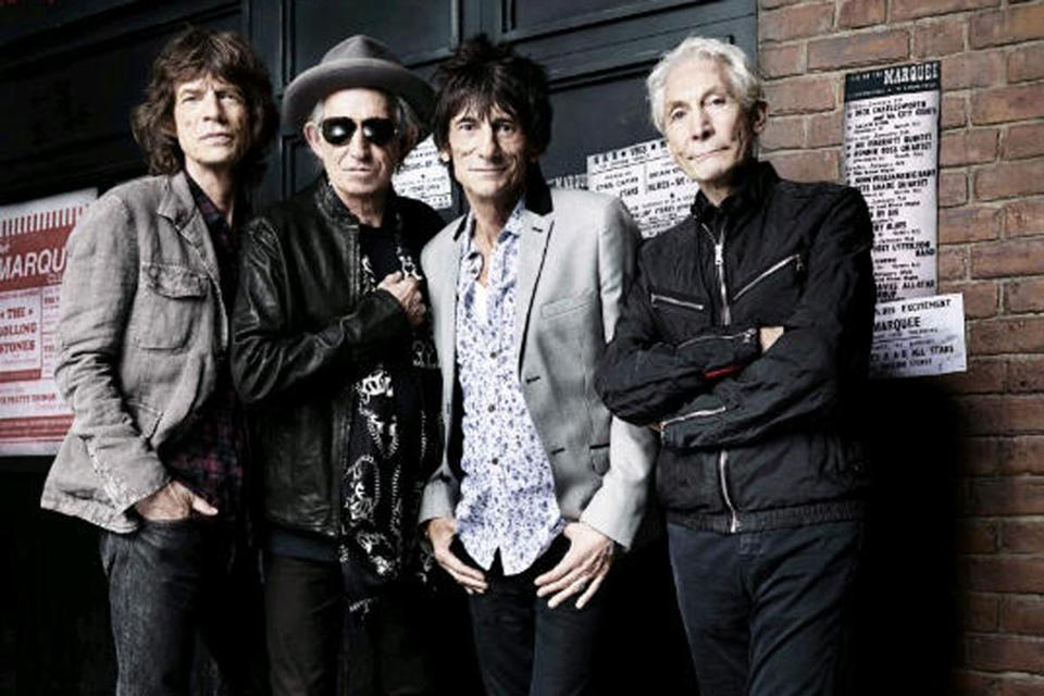 "From left: Mick Jagger, Keith Richards, Ronnie Wood, and Charlie Watts in HBO's ""Crossfire Hurricane."""